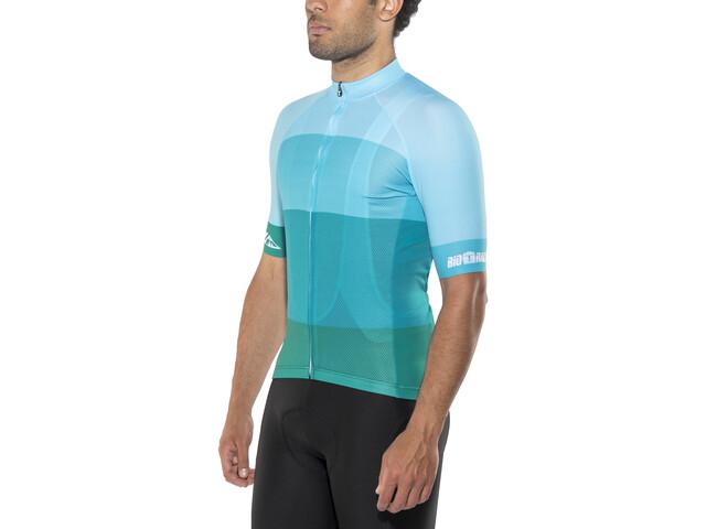 Red Cycling Products Colorblock Race Kortærmet cykeltrøje Herrer, green-blue